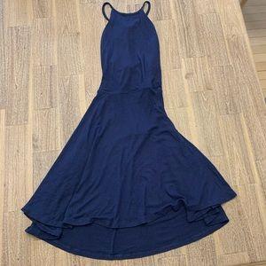 Lulus Navy Blue Skater Dress Small